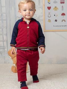 Pantalon rouge bébé garçon BAFAEL / 21H1BG52PAN503