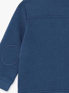 Sweat zippé bleu marine ZAKRISTOF / 21E1BGJ1GILP270