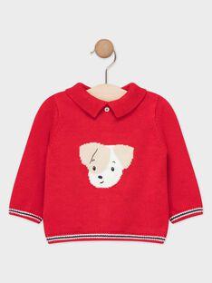 Pull rouge bébé garçon   TACARL / 20E1BGC2PUL050
