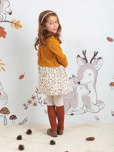Collant beige et marron à motifs biches enfant fille BUCHUETTE / 21H4PFJ1COL001