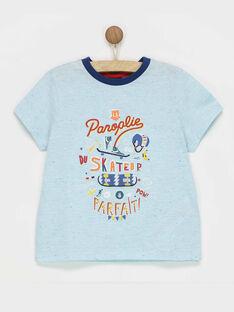 Tee shirt manches courtes bleu RECAGE / 19E3PGC1TMC001