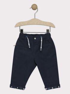 Pantalon bébé garçon bleu marine   SATATE / 19H1BGN1PAN713