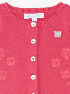 Cardigan rose fushia bébé fille ZOCELIA / 21E0CFY1CAR310