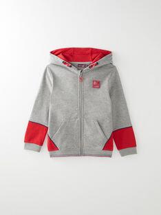 Veste de jogging gris et rouge VABENAGE / 20H3PG72JGH943