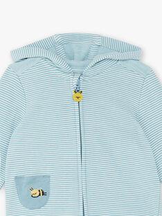 Sweat zippé à capuche rayé ZACAMIL / 21E1BG91JGHC233