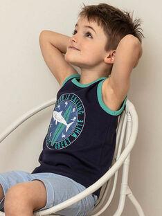 Débardeur bleu anglais enfant garçon ZUXIAGE2 / 21E3PGL1DEB702