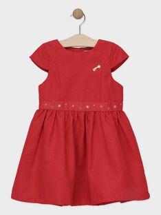 Robe Noël rouge à paillette fille SEUBOTETTE / 19H2PFP1ROBF510