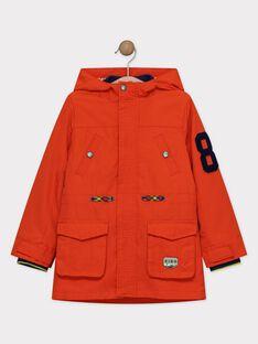 Parka imperméable orange trois en un garçon  TAKAGE / 20E3PGB1IMP405