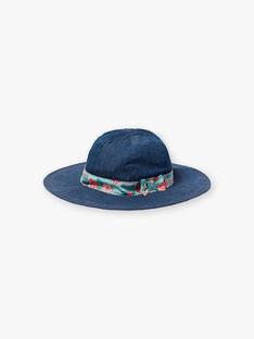 Chapeau en denim avec ruban imprimé  ZECAPETTE / 21E4PFI1CHAK005