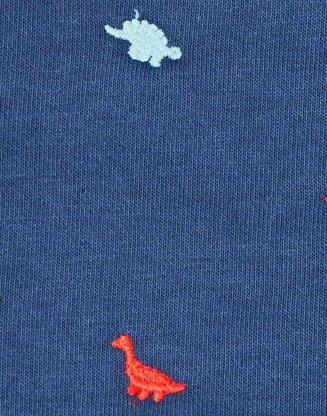 Snood marine imprimé petit enfant garçon  VAFOULAGE / 20H4PG81SNO705