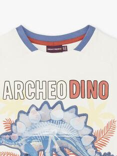 T-shirt écru dinosaure effet hologramme ZESOUAGE / 21E3PGB1TMC001