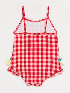 Maillot de bain vichy bébé fille TICINDY / 20E4BFI1MAI001