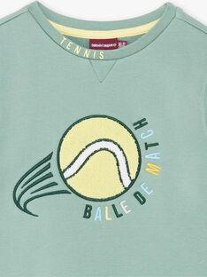 Sweat vert Balle de tennis ZEMATAGE / 21E3PGO1SWE631