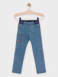 Jeans en denim stretch bleu clair garçon  TAGLAGE / 20E3PGC1JEAP274