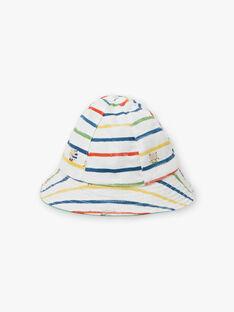 Chapeau vert et blanc réversible bébé garçon TARYAD / 20E4BGQ1CHA611