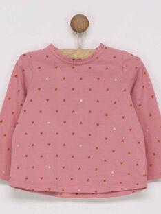 Dark rose T-shirt PANORA / 18H1BFK2TML313