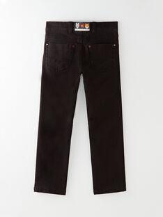 Pantalon regular noir avec ceinture  VIBOSAGE / 20H3PGU1PAN090