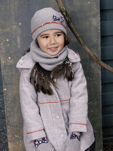Manteau en laine à capuche amovible gris VEMATETTE / 20H2PFI1MANJ920