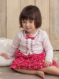 Gilet rose pâle bébé fille TASUZIE / 20E1BFQ1CARD317