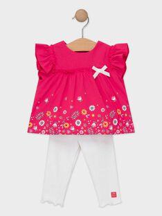 Ensemble blouse fleurie et legging bébé fille  TAISIA / 20E1BFG1ENS302