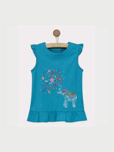 Turquoise T-shirt ROUPAETTE / 19E2PFM1TMC202