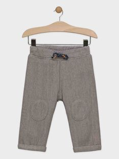 Pantalon en maille chevron bébé garçon  SAROMEO / 19H1BGI3PAN821