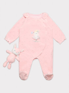 Grenouillère rose bébé fille TESANDRA / 20E5BF74GRED310