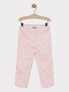 Pantalon de cérémonie fleuri fille   TYPOETTE / 20E2PFJ1PCO321