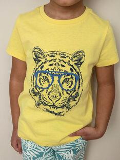T-shirt jaune imprimé Tigre ZUZAGE2 / 21E3PGL1TMCB117