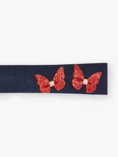 Bandeau bleu marine papillons brillants  ZAFILOUTE / 21E4BFB1BAN216