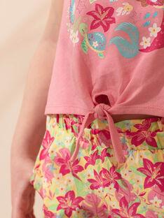 Ensemble de plage rose bonbon enfant fille ZAOLUETTE / 21E2PFQ1ENS305