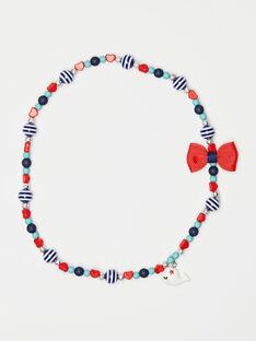 Collier de perles baleine et petit nœud petite fille  TUICOLETTE / 20E4PFL1CLI001