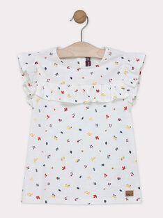 Tee-shirt imprimée écru fille  SELOVETTE / 19H2PF22TMC001