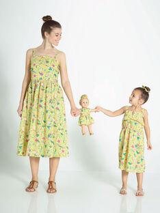 Lemon yellow No sleeves dress ROYGLEF / 19E2FFY4RBS108