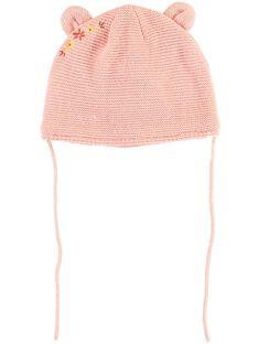 Bonnet rose point mousse bébé fille TABONNET / 20E4BFB1BON307