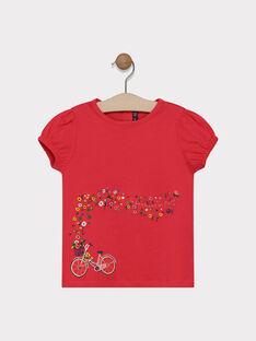 Tee-shirt rose animation fantaisie fille SAMAVETTE / 19H2PF31TMCD325