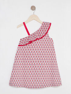 Robe asymétrique motif floral fille  TIUZETTE / 20E2PFQ1RBSD317