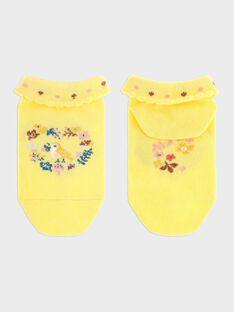 Chaussettes basses jaune fille SEROMETTE / 19H4PF21SOBB115