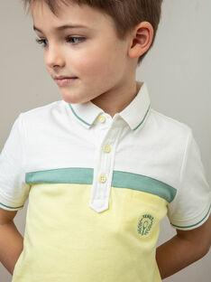 Polo tricolore poche devant enfant garçon ZECHAGE