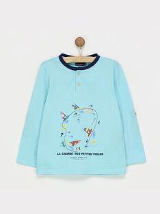 Pale turquoise T-shirt RENDIAGE / 19E3PGD1TML203