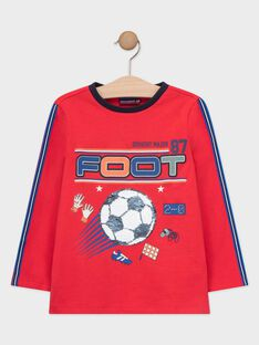 Tee Shirt Manches Longues Rouge TAFIAGE / 20E3PGC1TML050