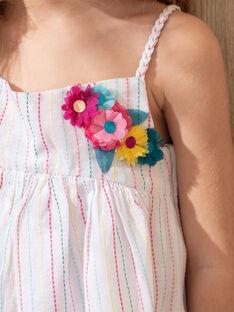 Robe à rayure multicolore fille TEURETTE / 20E2PFX1ROB001