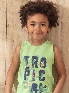 Débardeur vert et bleu enfant garçon TUNALAGE / 20E3PGX1DEBG628