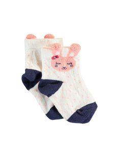 Chaussettes écrues bébé fille  VAIBYS / 20H4BFM1SOQ001