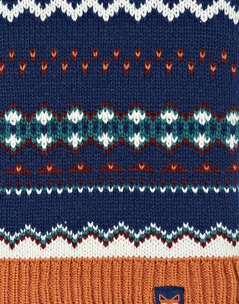 Snood jacquard en tricot  VUSNODAGE / 20H4PGJ1SNO702