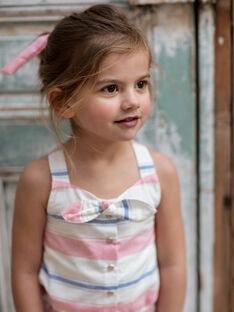 Combishort rayée à nœud enfant fille ZUQOBETTE / 21E2PFT1SAC001