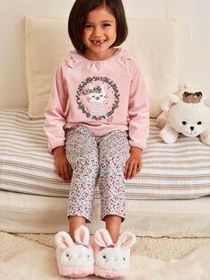 Ensemble pyjama rose en velours motif chat enfant fille BEBICOETTE / 21H5PF71PYJD329