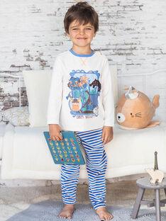 Pyjama beige chiné motifs vikings enfant garçon BEVIKAGE / 21H5PG64PYJA011