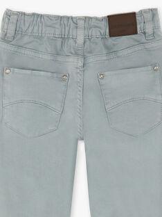 Pantalon gris clair 5 poches enfant garçon ZAZITAGE4 / 21E3PGK5PAN631