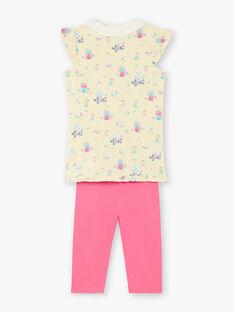 Pyjama jaune et rose en jersey  ZELAETTE / 21E5PF12PYJB102